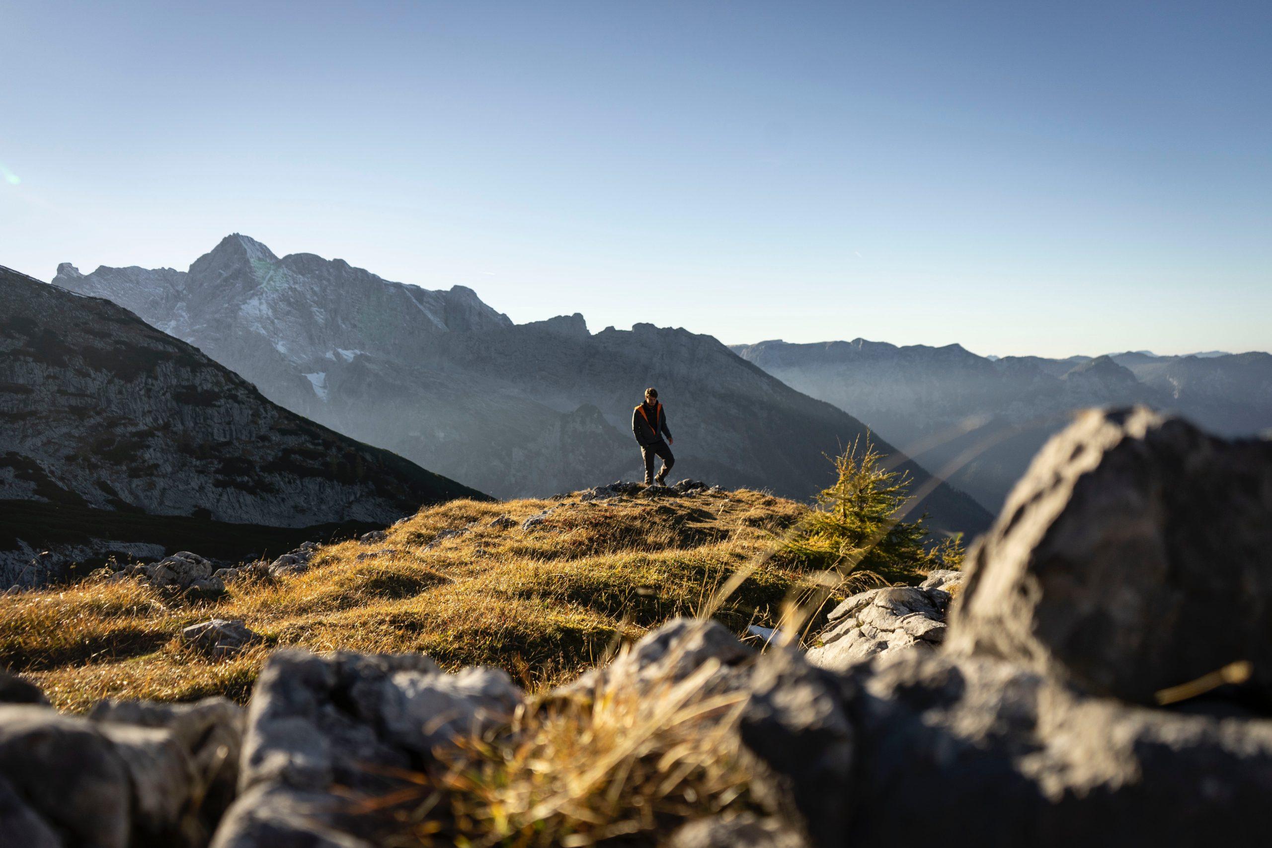 Bildmotiv: Bergbild mit Bergsteiger