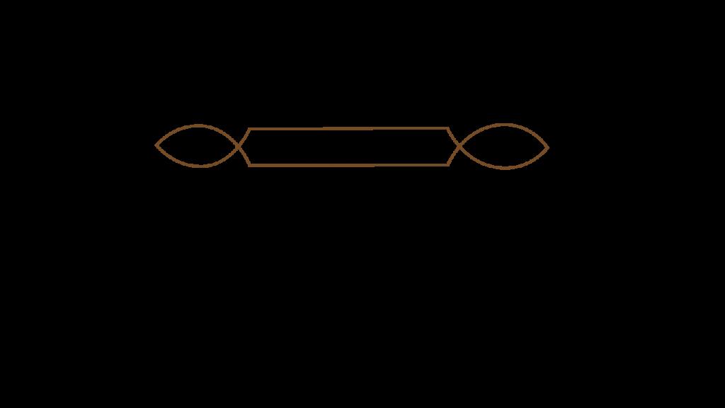 Braune Unterstrich Linie verziert klein