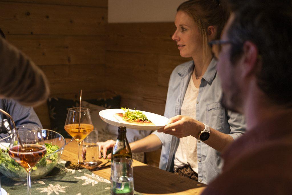 Abendessen auf der Almhütte