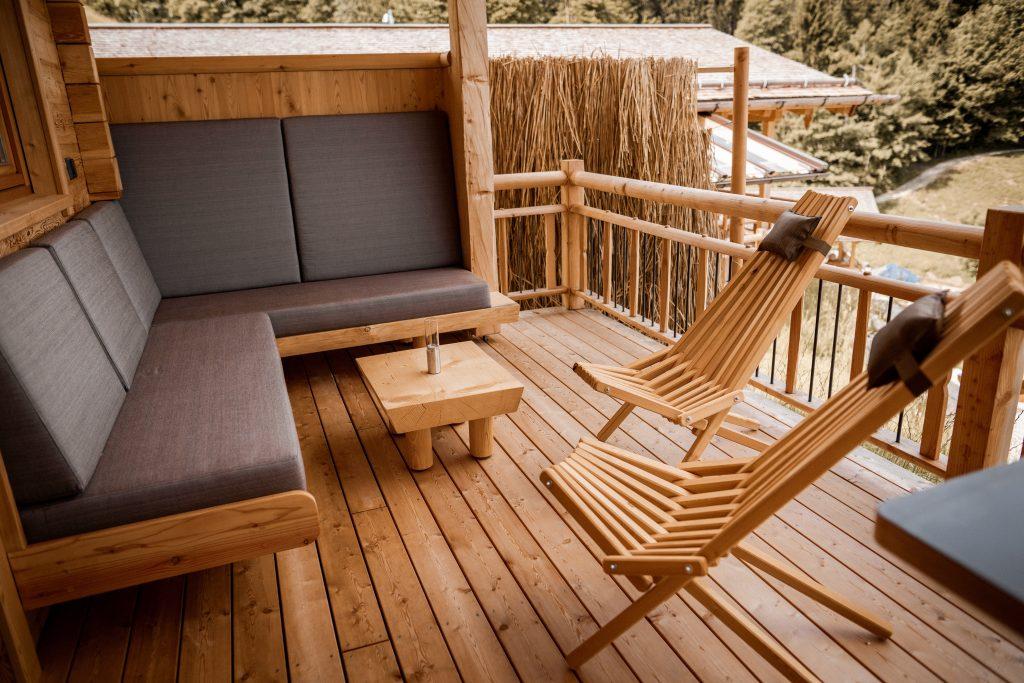 Lounge auf der Panoramaterrasse
