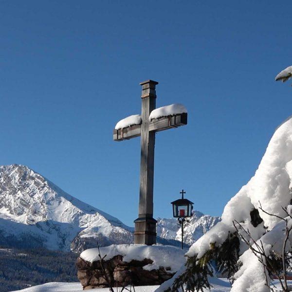Brandkopf-Gipfelkreuz im Winter
