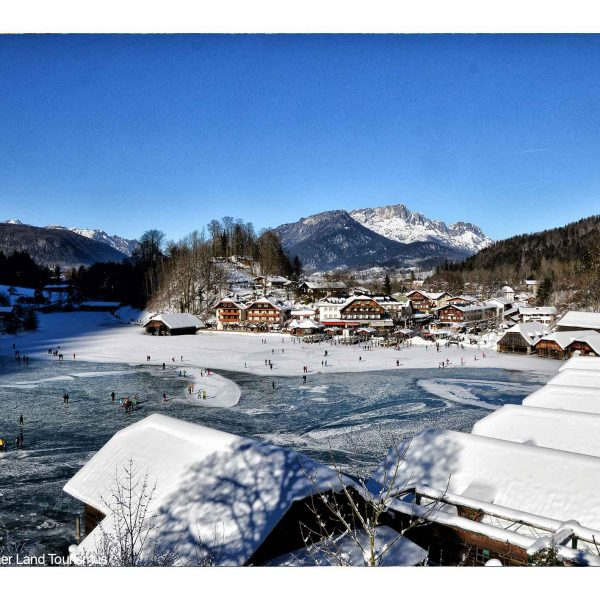 Bildmotiv: zugefrohrener Königssee